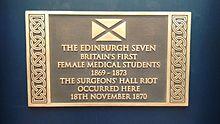 Surgeons' Hall Riot Plaque